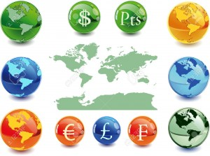 4005944-Colour-globe-kit-and-money-signs-from-different-countries-vector--Stock-Photo